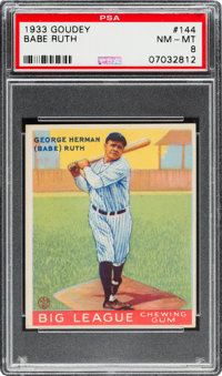 1933 Goudey Babe Ruth #144 PSA NM-MT 8