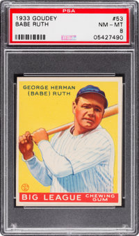 1933 Goudey Babe Ruth #53 PSA NM-MT 8