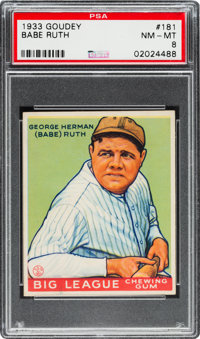 1933 Goudey Babe Ruth #181 PSA NM-MT 8