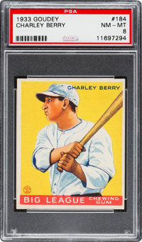 1933 Goudey Charley Berry #184 PSA NM-MT 8
