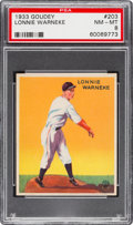 Baseball Cards:Singles (1930-1939), 1933 Goudey Lonnie Warneke #203 PSA NM-MT 8....