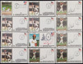 Autographs:Post Cards, Lou Brock Signed First Day Covers Lot of 6 (and 6 unsigned). ...