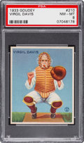 Baseball Cards:Singles (1930-1939), 1933 Goudey Virgil Davis #210 PSA NM-MT 8 - None Higher! ...