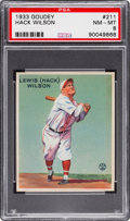 Baseball Cards:Singles (1930-1939), 1933 Goudey Hack Wilson #211 PSA NM-MT 8....
