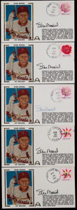 Baseball Collectibles:Others, Stan Musial Signed First Day Covers Lot of 5. ...