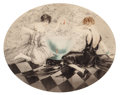 Fine Art - Work on Paper:Print, Louis Icart (French, 1888-1950). Fish Bowl, circa 1930.Limited edition etching, numbered 223. 22-1/2 x 27-1/2 inches (5...
