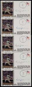 Baseball Collectibles:Others, Reggie Jackson Signed First Day Covers Lot of 5. ...