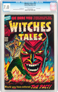 Golden Age (1938-1955):Horror, Witches Tales #19 (Harvey, 1953) CGC FN/VF 7.0 Off-white to whitepages....