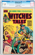 Golden Age (1938-1955):Horror, Witches Tales #1 (Harvey, 1951) CGC FN/VF 7.0 Off-white to whitepages....