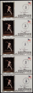 Baseball Collectibles:Others, Willie Stargell (5) and Jim Palmer (5) Signed First Day Covers Lotof 10 (and 25 unsigned). ...