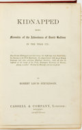 Books:Literature Pre-1900, Robert Louis Stevenson. Kidnapped, Being Memoirs of theAdventures of David Balfour in the Year 1751. Cassell & ...