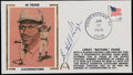 Baseball Collectibles:Others, Satchel Paige Signed First Day Cover....