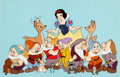 Animation Art:Production Cel, Snow White and the Seven Dwarfs Model/Publicity Cel (WaltDisney, 1980s)....