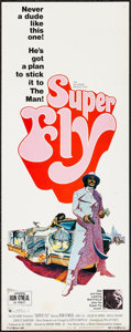 "Movie Posters:Blaxploitation, Super Fly (Warner Brothers, 1972). Insert (14"" X 36"") & Uncut Pressbook (12 Pages, 11"" X 14""). Blaxploitation.. ... (Total: 2 Items)"