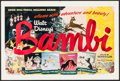 "Movie Posters:Animation, Bambi (RKO, R-1948). Life Magazine Flyer (10.5"" X 14"") DS. Animation.. ..."
