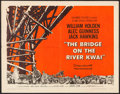 "Movie Posters:War, The Bridge on the River Kwai (Columbia, 1958). Half Sheet (22"" X 28"") Style B. War.. ..."