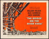"The Bridge on the River Kwai (Columbia, 1958). Half Sheet (22"" X 28"") Style B. War"