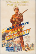 "Movie Posters:Western, Davy Crockett, King of the Wild Frontier (Buena Vista, 1955). OneSheet (27"" X 41""). Western.. ..."