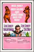 "Movie Posters:James Bond, Goldfinger/Dr. No Combo (United Artists, R-1966). One Sheet (27"" X 41""). James Bond.. ..."