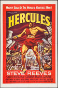 """Movie Posters:Action, Hercules (Warner Brothers, 1959). One Sheet (27"""" X 41""""). Action.. ..."""