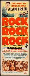 "Movie Posters:Rock and Roll, Rock, Rock, Rock (DCA, 1956). Insert (14"" X 36""). Rock and Roll.. ..."