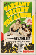 "Movie Posters:Adventure, Tarzan's Secret Treasure (MGM, R-1948). One Sheet (27"" X 41"").Adventure.. ..."