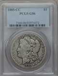 1885-CC $1 Good 6 PCGS. PCGS Population (7/20342). NGC Census: (7/9958). Mintage: 228,000. Numismedia Wsl. Price for pro...