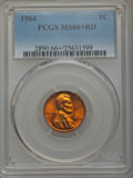 Lincoln Cents, 1964 1C MS66+ Red PCGS. PCGS Population (487/3 and 16/0+). NGC Census: (327/13 and 0/0+). Mintage: 2,652,525,824. Numismedi...