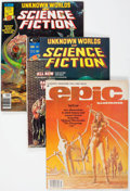 Magazines:Science-Fiction, Epic Illustrated/Unknown Worlds of Science Fiction Group of 12(Marvel, 1975-81) Condition: Average VF/NM.... (Total: 12 ComicBooks)