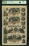 Obsoletes By State:Minnesota, St. Paul, MN - Dayton Bank Uncut Sheet of $1-$1-$2-$5 185_ MN-135G2a-G2-G4a-G6a, Hewitt D1b-D1b-D2b-D5b. Remainder. PCGS Abou...