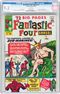 Silver Age (1956-1969):Superhero, Fantastic Four Annual #1 (Marvel, 1963) CGC NM- 9.2 White pages....