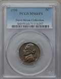 Jefferson Nickels, 1956 5C MS66 Full Steps PCGS. Ex: Steve Storm Collection. PCGS Population (49/2). NGC Census: (58/3). Numismedia Wsl. Pric...