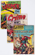 Golden Age (1938-1955):Miscellaneous, Golden Age Miscellaneous Comics and Pulps Group of 8 (Various Publishers, 1947-57) Condition: Average FR/GD.... (Total: 8 Comic Books)