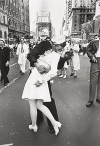 Alfred Eisenstaedt (American, 1898-1995) V-J Day, Times Square, New York City, 1945 Gelatin silver