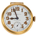 Timepieces:Pocket (post 1900), Tiffany & Co. 18k Gold Open Face Pocket Watch. ...