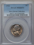 Jefferson Nickels, 1962 5C MS66 Full Steps PCGS. Ex: Steve Storm Collection. PCGS Population (37/2). Numismedia Wsl. Price...
