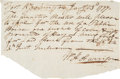 Autographs:U.S. Presidents, William Henry Harrison Autograph Document Signed....