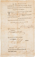 Autographs:U.S. Presidents, George Washington Document Signed....