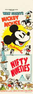 "Movie Posters:Animated, Mickey Mouse in The Nifty Nineties (RKO, 1941). Stock AustralianDaybill (14"" X 40"").. ..."