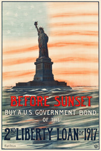 "World War I Propaganda (U.S. Government Printing Office,1917). Second Liberty Loan Poster (19.5"" X 29""). ""..."