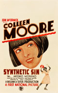 """Movie Posters:Comedy, Synthetic Sin (First National, 1929). Window Card (14"""" X 22"""").. ..."""
