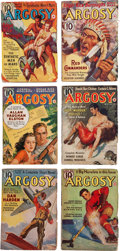 Books:Pulps, Edgar Rice Burroughs. The Synthetic Men of Mars. Completesix-part serial in Argosy Weekly, January 7 through Fe...(Total: 6 Items)
