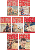 Books:Pulps, Edgar Rice Burroughs. Tarzan and the Ant Men. Completeseven-part serial in Argosy All-Story Weekly, February 2 ...(Total: 7 Items)