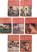 Books:Pulps, Edgar Rice Burroughs. Tarzan the Terrible. Completeseven-part serial in Argosy All-Story Weekly, February 12th... (Total: 7 Items)