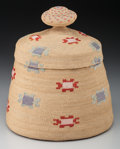 American Indian Art:Baskets, An Attu Polychrome Twined Basket . c. 1900...