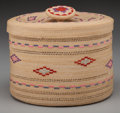 American Indian Art:Baskets, An Attu Polychrome Twined Basket. c. 1900...