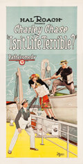 "Movie Posters:Comedy, Isn't Life Terrible (Pathé, 1925). Three Sheet (41"" X 79.5"").. ..."