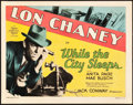 "Movie Posters:Crime, While the City Sleeps (MGM, 1928). Title Lobby Card (11"" X 14"")....."
