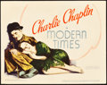 """Movie Posters:Comedy, Modern Times (United Artists, 1936). Title Lobby Card (11"""" X 14"""").. ..."""