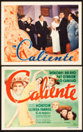 """Movie Posters:Musical, In Caliente (Warner Brothers, 1935). Title Lobby Card and Lobby Card (11"""" X 14"""").. ... (Total: 2 Items)"""